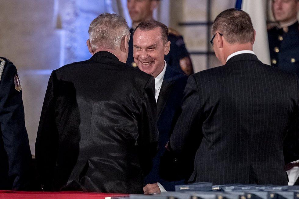 Prezident Miloš Zeman na státní svátek 28. října předával státní vyznamenání ve Vladislavském sále Pražského hradu. Margita