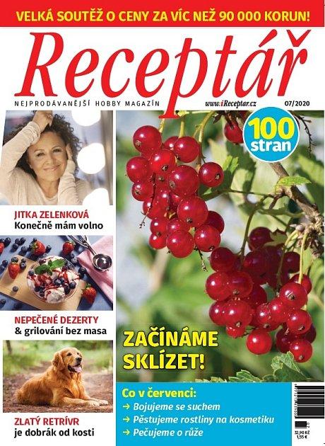 Červencové číslo magazínu Receptář.