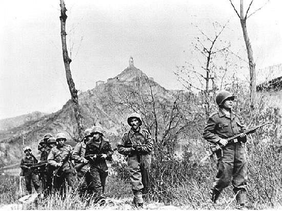 Vojáci brazilského expedičního sboru během bitvy o Monte Castello