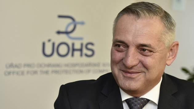 Předseda Úřadu pro ochranu hospodářské soutěže (ÚOHS) Petr Rafaj (na snímku z 25. ledna 2018)