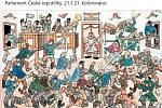 Nechybělo připomenutí klasiků české ilustrace a humoru, zachycujících národní tradice