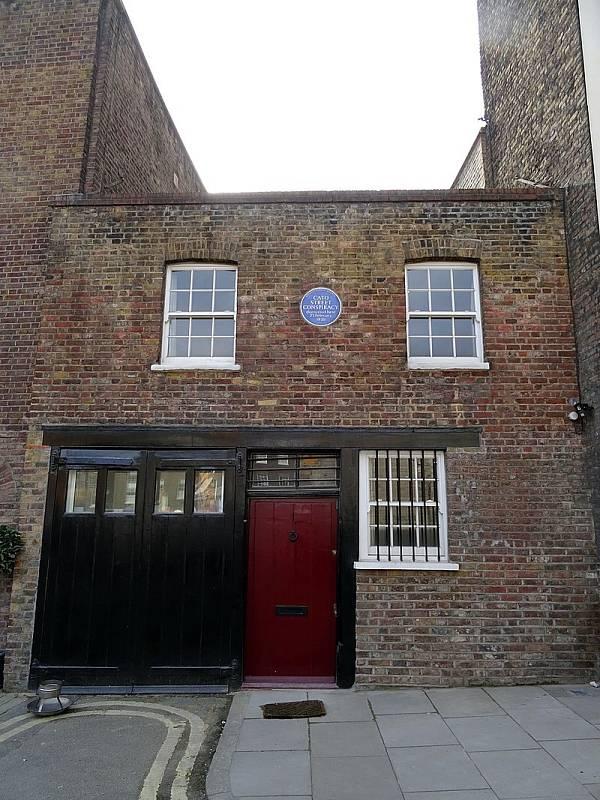 Londýnská budova, v níž byli spiklenci odhaleni
