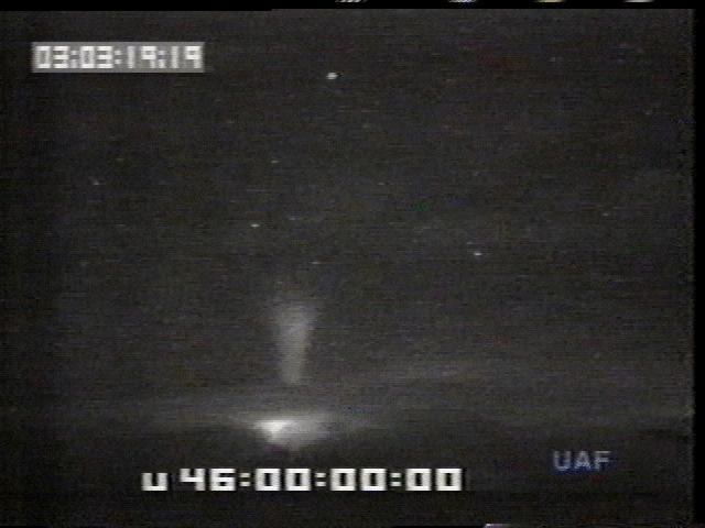 Modrý výtrysk zachycený přístroji amerického Národního úřadu pro letectví a kosmonautiku