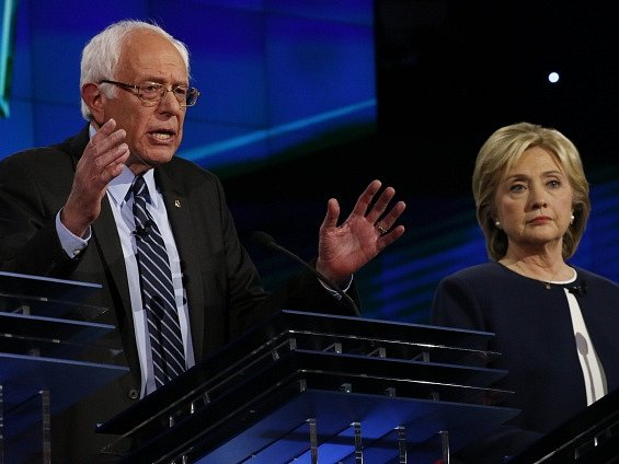 Bernie Sanders a Hillary Clintonová