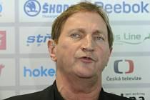 Trenér české hokejové reprezentace Alois Hadamczik.
