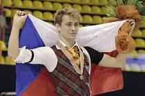 Krasobruslař Michal Březina vybojoval na mistrovství Evropy v Záhřebu bronz.
