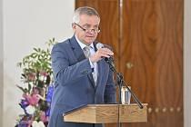 Briefing vedoucího Kanceláře prezidenta republiky Vratislava Mynáře ke zdravotnímu stavu prezidenta Miloše Zemana se konal 18. října 2021 na Pražském hradě