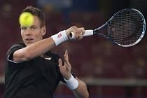 Tomáš Berdych na exhibiční soutěži International Premier Tennis League.