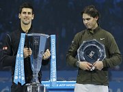 Tomáš Berdych se raduje z vítězství nad Davidem Ferrerem na Turnaji mistrů v Londýně.