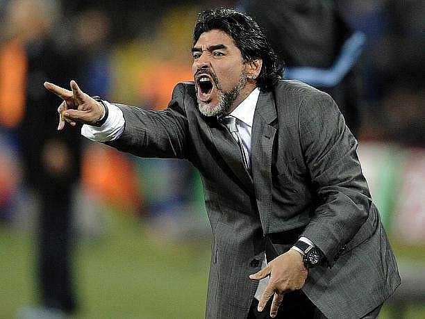 Fotbalový trenér Diego Maradona.