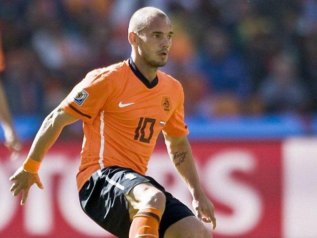 Nizozemský záložník Wesley Sneijder.