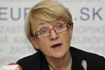 Předsedkyně ústavního výboru Evropského parlamentu Danuta Hübnerová.
