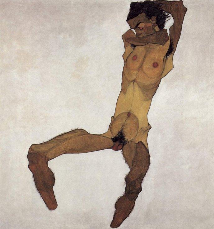 Egon Schiele: mužský akt