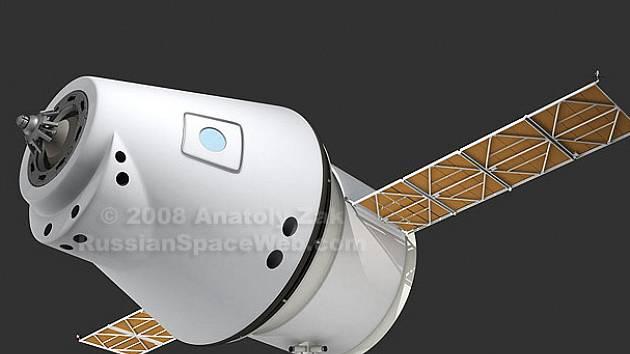 Návrh ruské lodi pro let k Měsíci.