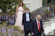 Donald, Melania a Barron Trumpovi