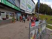 Dolní stanice lanovky na Černou horu v Krkonoších