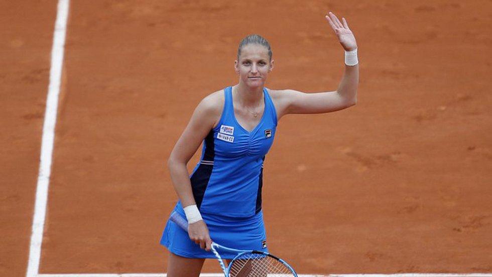 Česká tenistka Karolína Plíšková po vítězném 1. kole French Open.