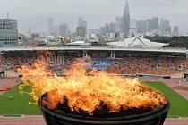 Olympijský stadion v Tokiu.