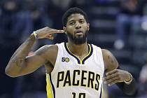 Hvězda Indiany Pacers Paul George.