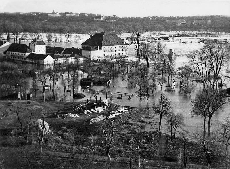 Povodeň v časech válečných, snímek z 19. března 1940