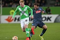 Wolfsburg vs. Neapol: Kevin de Bruyne a Gonzalo Higuaín
