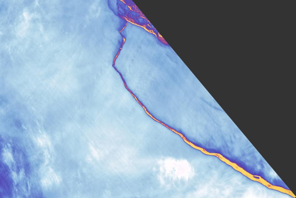 Kra A68 se od ledovce oddělila v roce 2017.