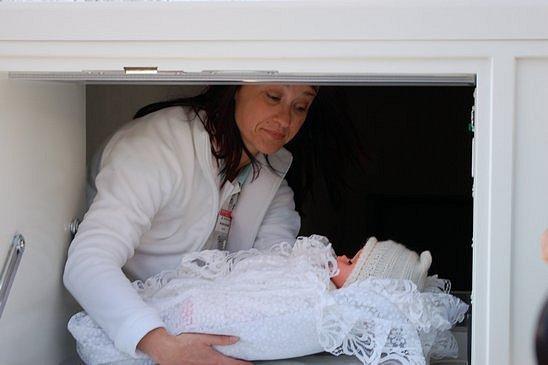 Zprovoznění babyboxu v Klatovech 15. dubna 2009
