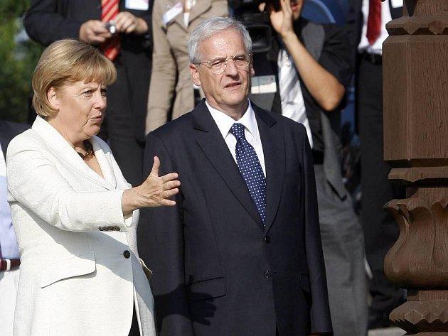 Maďarský prezident László Sólyom s německou kancléřkou Angelou Merkelovou