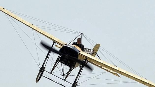 Kopie letadla Blériot Jana Kašpara.
