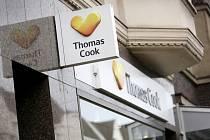 Pobočka cestovní kanceláře Cestovka Thomas Cook v německém Düsseldorfu