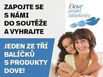 Vyhrajte jeden ze tří balíčků s produkty Dove!