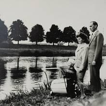 Eva s manželem a syny v 60. letech v Uherském Hradišti