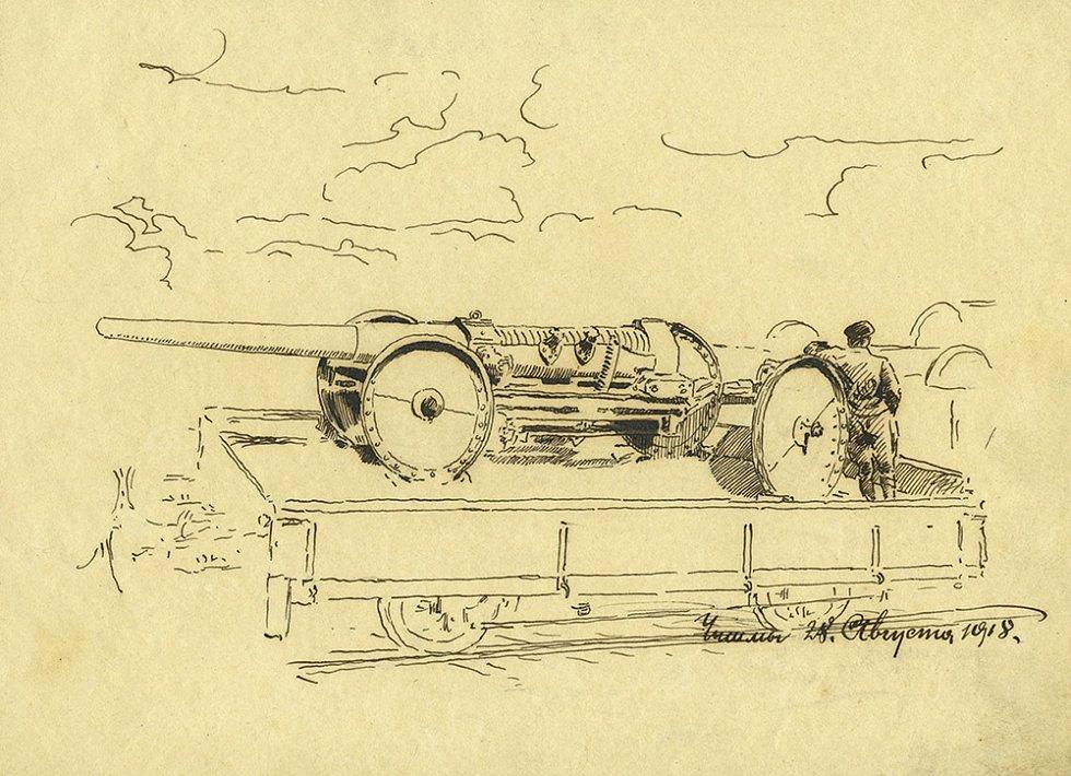 Kresba z deníku Františka Krejčího