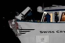 Havarovaná loď na Rýnu