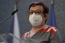Pověřená hlavní hygienička Pavla Svrčinová na snímku z 21. května 2021