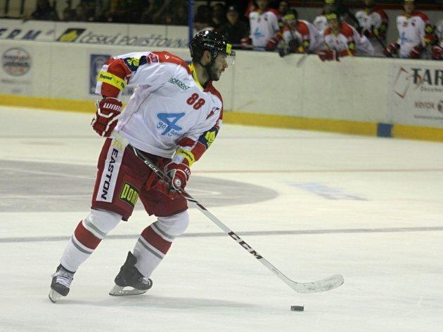 Erik Hrňa z Olomouce proti Mladé Boleslavi.