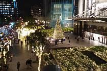 Vánoční stromek v novém centru Taipei.