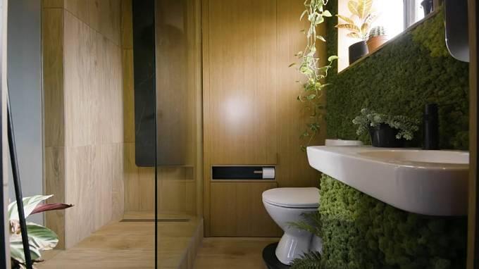 Vertikální zahrada v koupelně