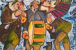 Obraz malíře Hynka Fuky na téma masopustu