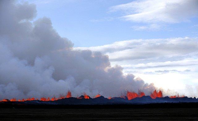 Výbuch sopky Bárdarbunga na Islandu v roce 2014