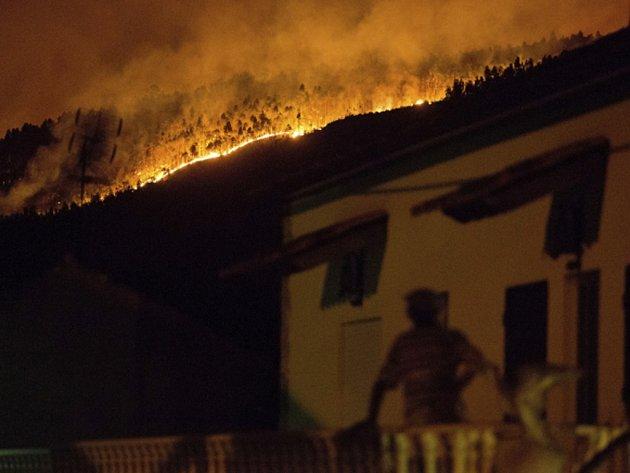 Požár v Portugalsku.