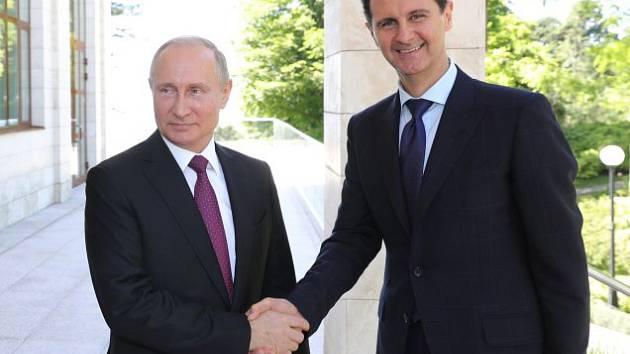 Ruský prezident Vladimir Putin se svým syrským protějškem Bašárem Asadem