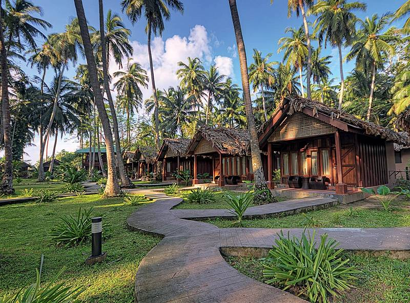 Barefoot Resort je nejstarším anejautentičtějším naostrově Havelock.