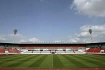 Stadion Evžena Rošického v Praze.
