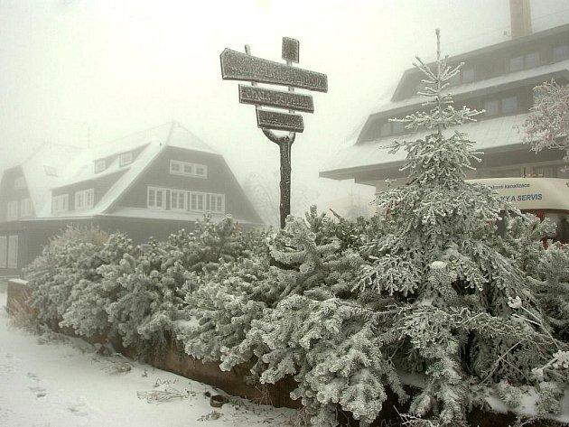 Hory v Česku zasypal sníh, silně foukalo a obyvatele ohrožovala vichřice a sněhové jazyky. Hydrometeorologický ústav vydal výstražnou informaci!