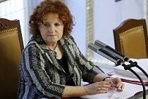 Místopředsedkyně Sněmovny Vlasta Parkanová na schůzi Poslanecké sněmovny.