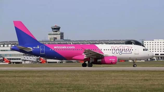 Airbus A320 společnosti Wizz Air v Praze.