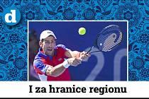 Srbský tenista Novak Djokovič na LOH v Tokiu.