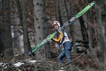 Jakub Janda se chystá na Turné čtyř můstků v Bischofshofenu na kvalifikační skok.