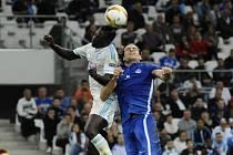 Ze zápasu Marseille - Liberec